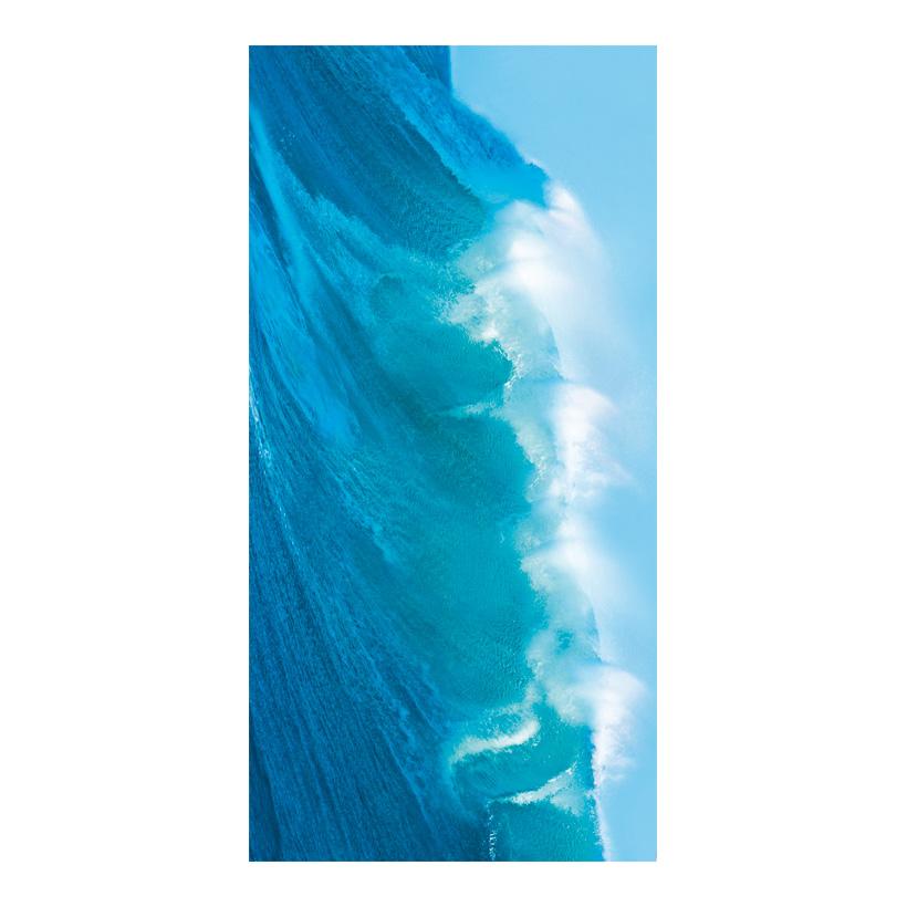 """# Motivdruck """"Meereswelle"""", 180x90cm Stoff"""