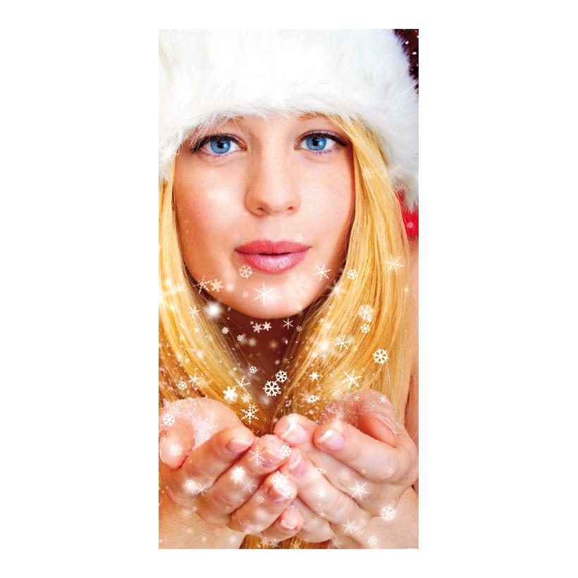 """# Motivdruck """"Weihnachtsfrau"""", 180x90cm Papier"""