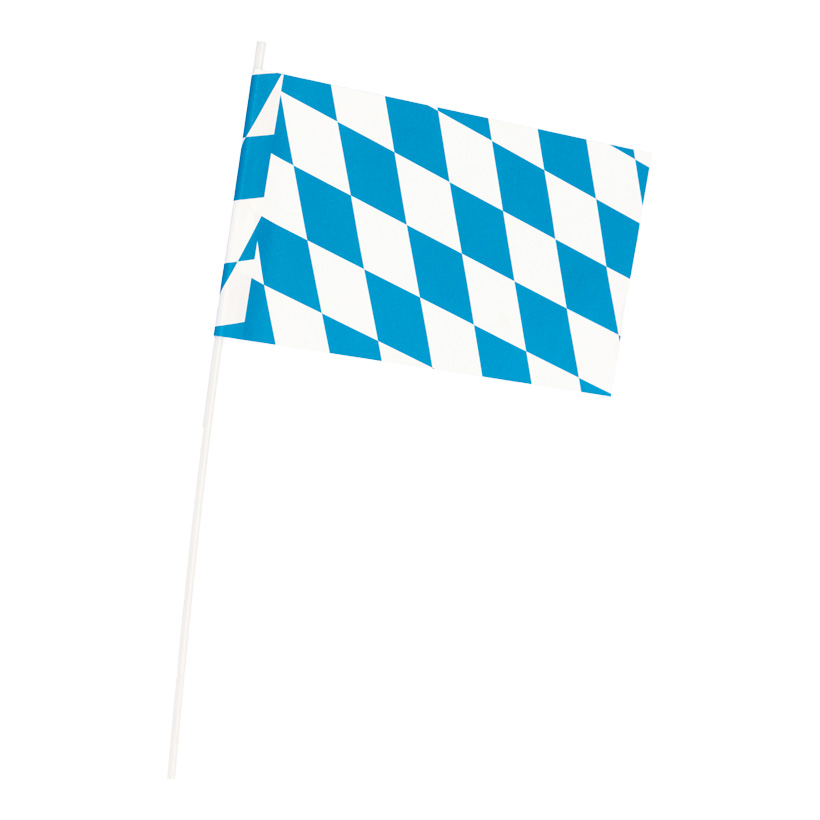 "# Fahne ""Bavaria"", 12x22cm, Papier, mit Plastikstiel"