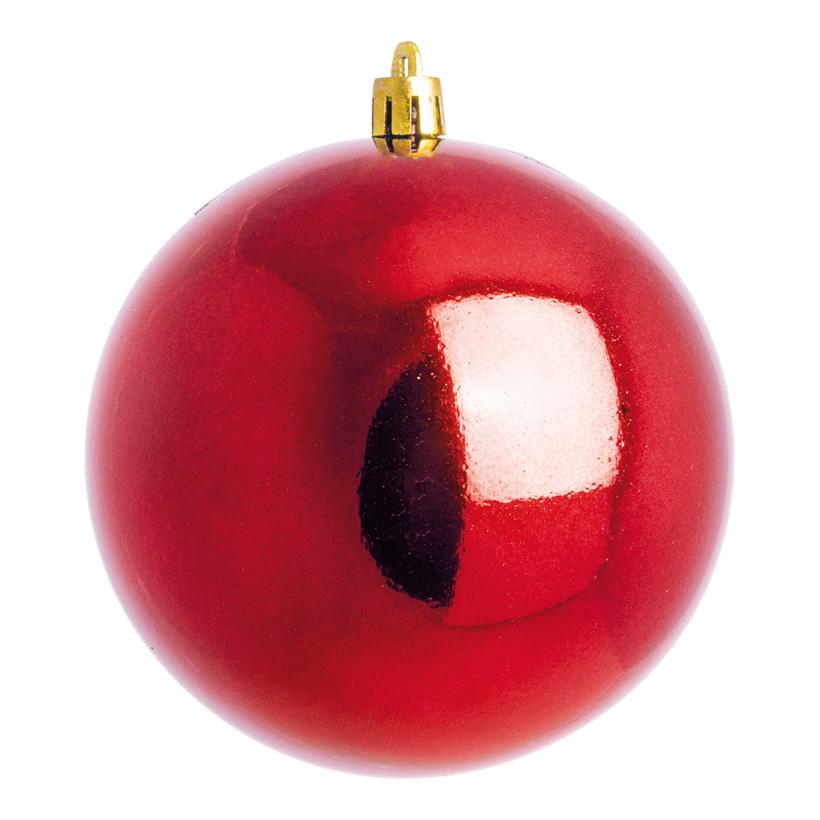 Weihnachtskugel, rot glänzend, Ø 8cm 6 St./Karton