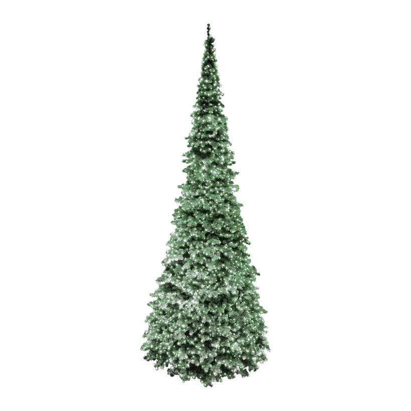 """# Gigant Baum Deluxe,  """"SLIM-Exklusive"""", Ø 490cm, 1230cm, 65860 Tips, 13 Elemente, Vinylfolie, 16200 LED, für innen und außen"""