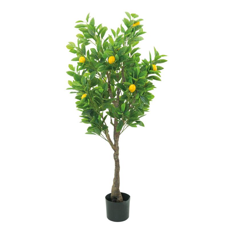 Zitronenbaum, H: 120cm im Topf, aus Kunstseide & Kunststoff