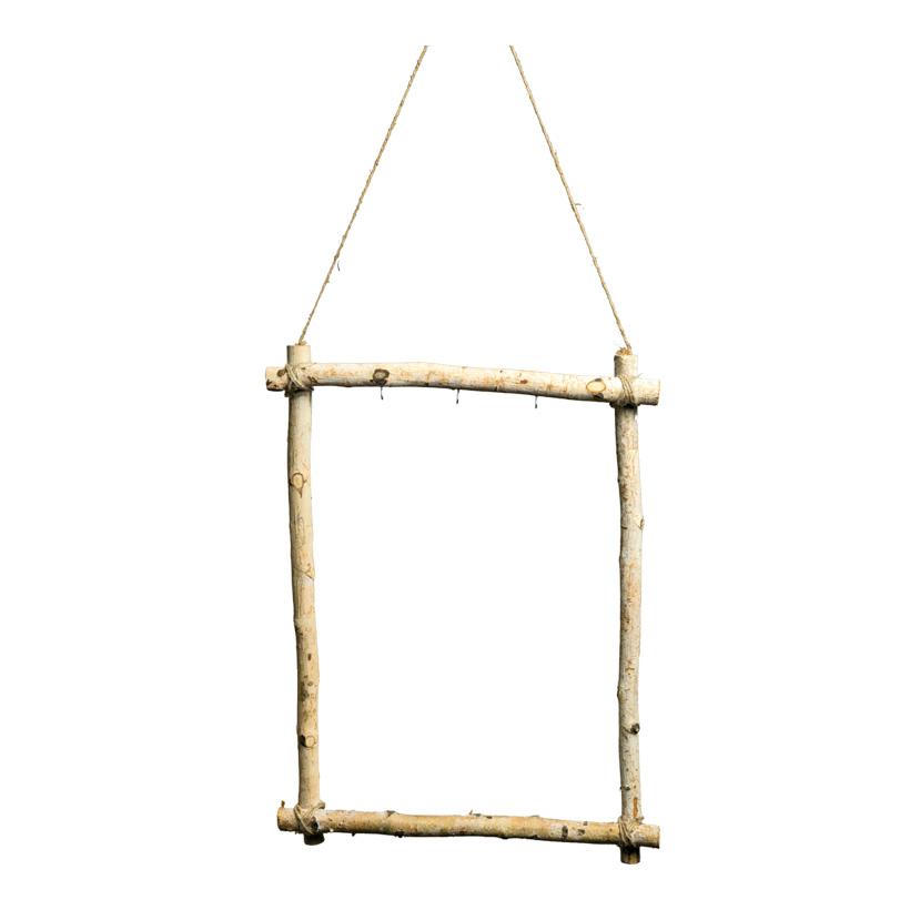 """Display """"Holzrahmen"""", 60x45cm mit Hänger und 3 Dekohaken"""