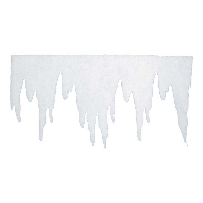 Eiszapfenfries, 125x66cm, aus 2cm Schneewatte, schwer entflammbar