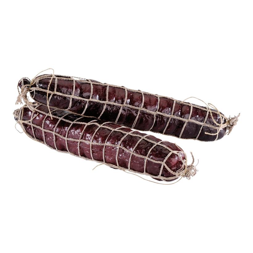 # Salami, Ø 5cm, 25cm, 2Stck./Btl., im Netz, Kunststoff
