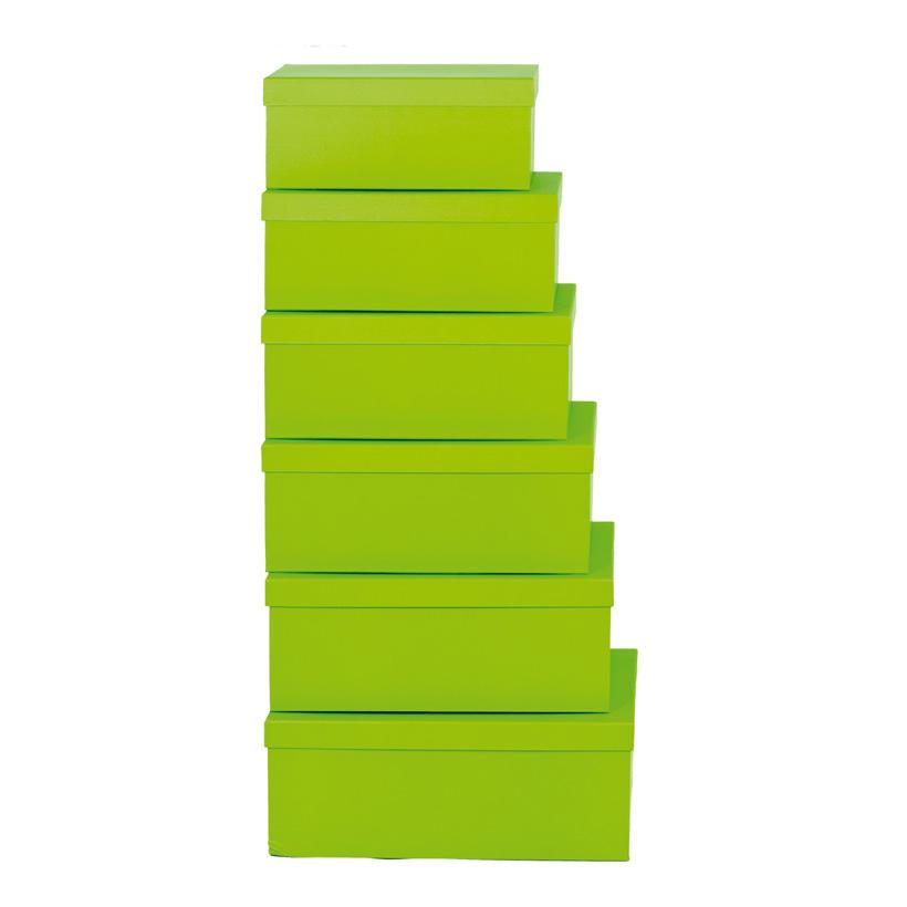 Boxen, 35x24x14,2, 37,5x26x15,7, 39,5x28x16,2, 42x30,5x16,7, 6Stck./Satz, nestend, Pappe, rechteckig, 30,5x20x13,2, 33,4x22x13,7