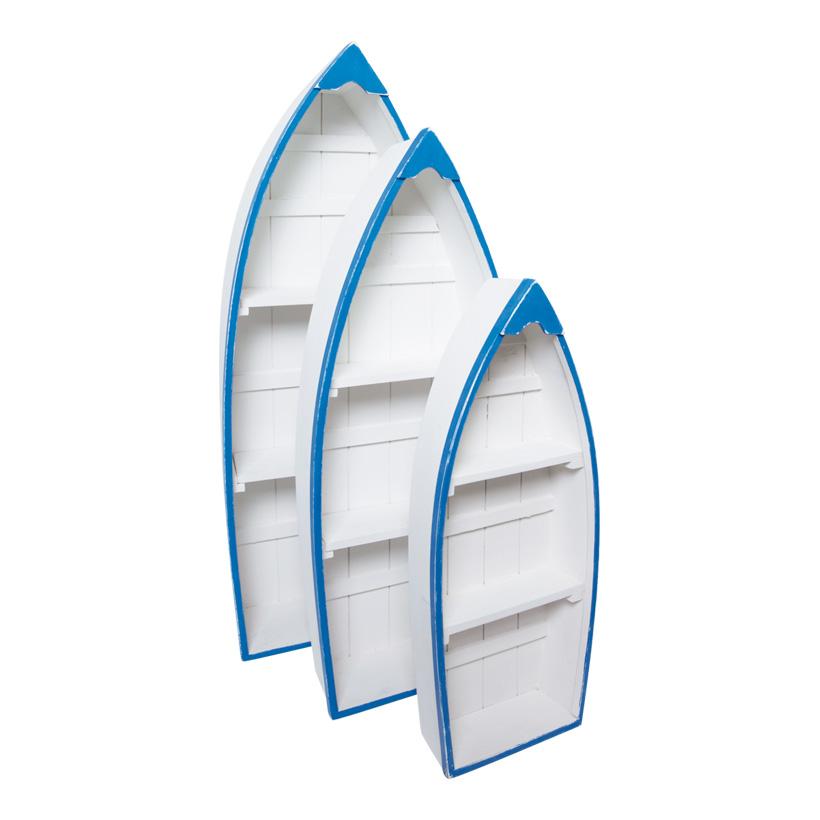 Boote, 48x20x7cm, 62x25x9,5cm, 73x30x11,5cm, 3Stck/Satz, Holz