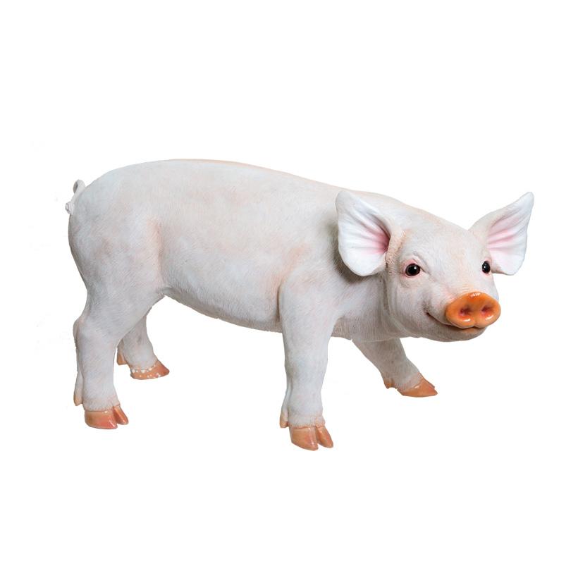 # Schwein, stehend, 47x24x28cm, Polyresin, für Innen und Außen
