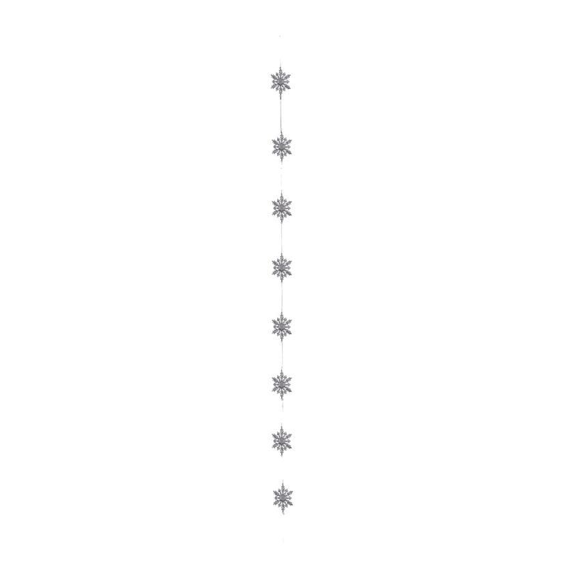 Schneekristallgirlande, 180cm mit Hänger