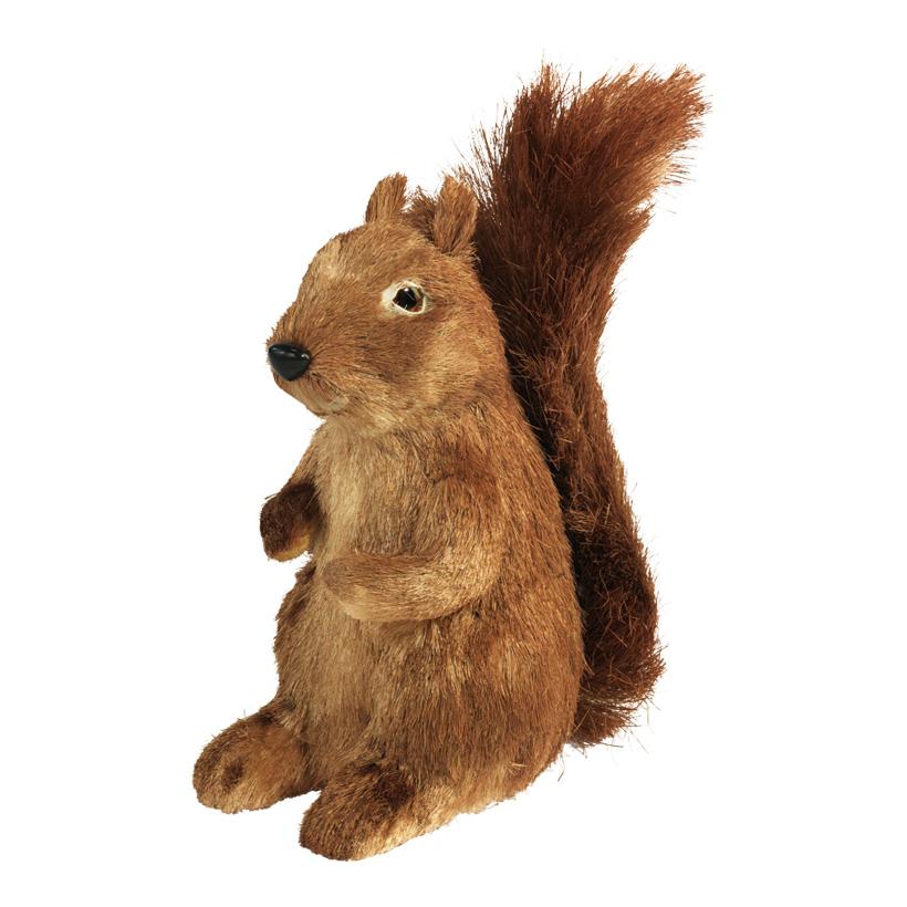 Eichhörnchen, 33x14cm, Styrofoam, Stroh