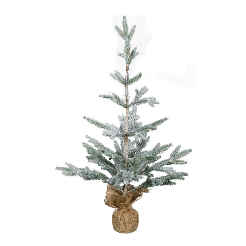Weihnachtsbaum, 70cm beschneit, im Jutesack, 100% PE-Tips