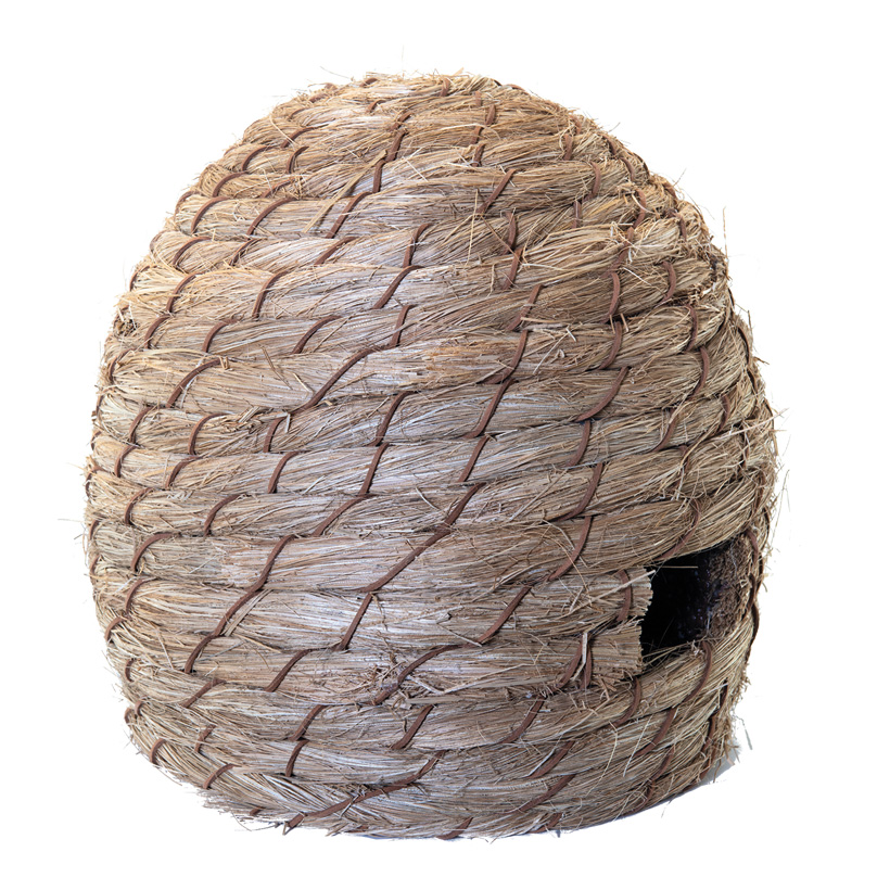 Bienenkorb, H: 30cm Ø: 33cm aus Styropor & Kunstfaser