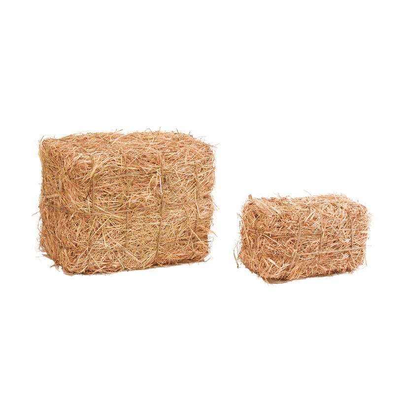 Strohballen, ca.12x15x25cm, Styropor, mit Stroh
