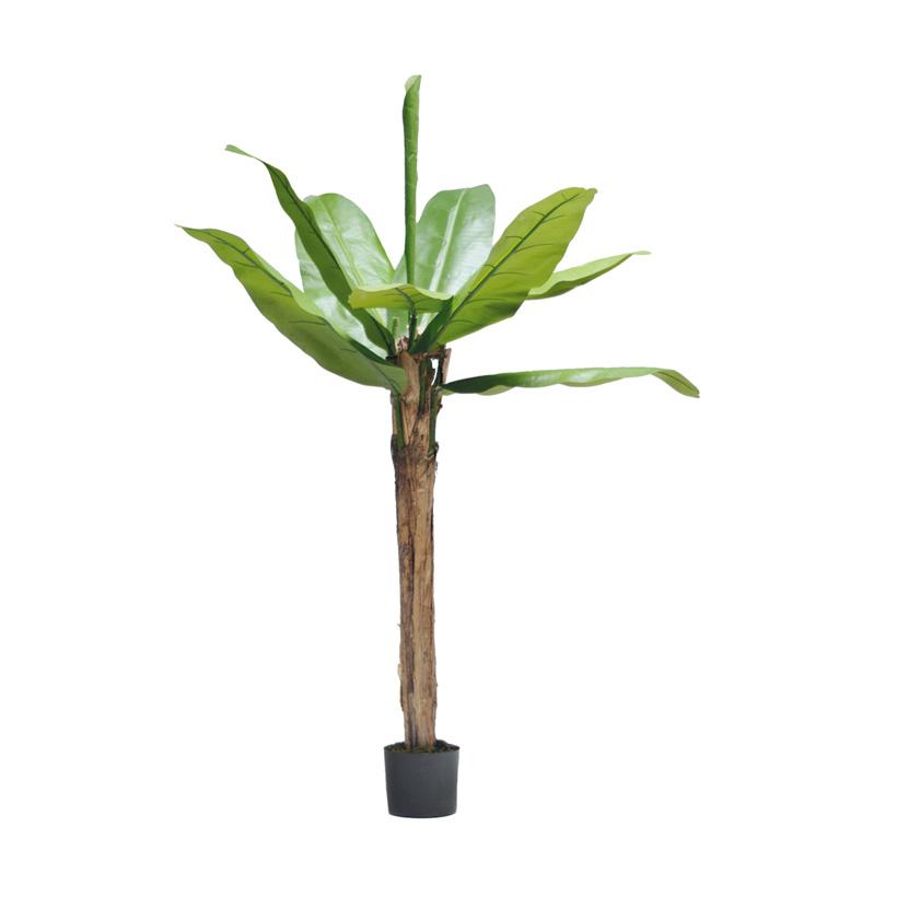 # Bananenbaum, 180cm, 10 Blätter aus Kunstseide, im Topf, Stamm aus Naturfaser