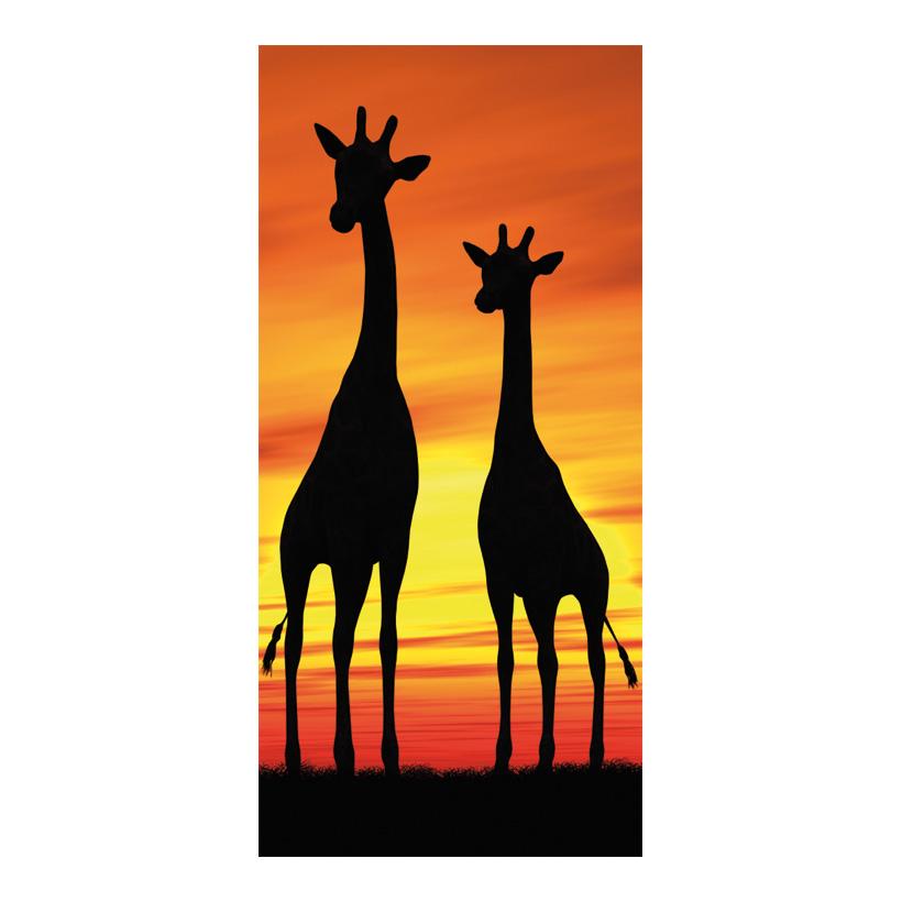 "# Motivdruck ""Giraffe"", 180x90cm Stoff"
