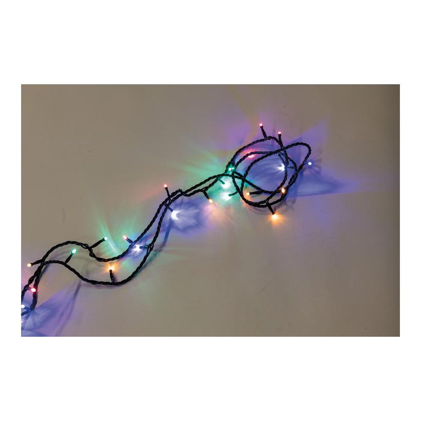 PVC-Lichterkette mit 100 LEDs, 1000cm IP20 Stecker für innen, 10x koppelbar, 1,5m Zuleitung, 220-240V