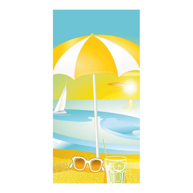 "# Motivdruck ""Beach Life"", 180x90cm Stoff"