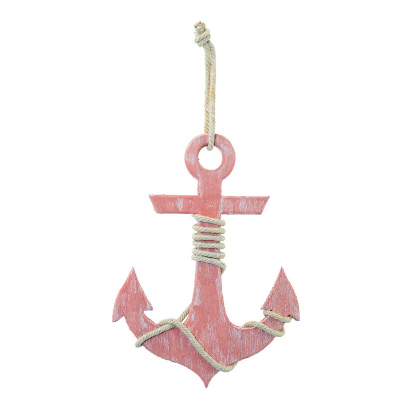 Anker, H: 50cm B: 36cm mit Seilhänger, aus Holz