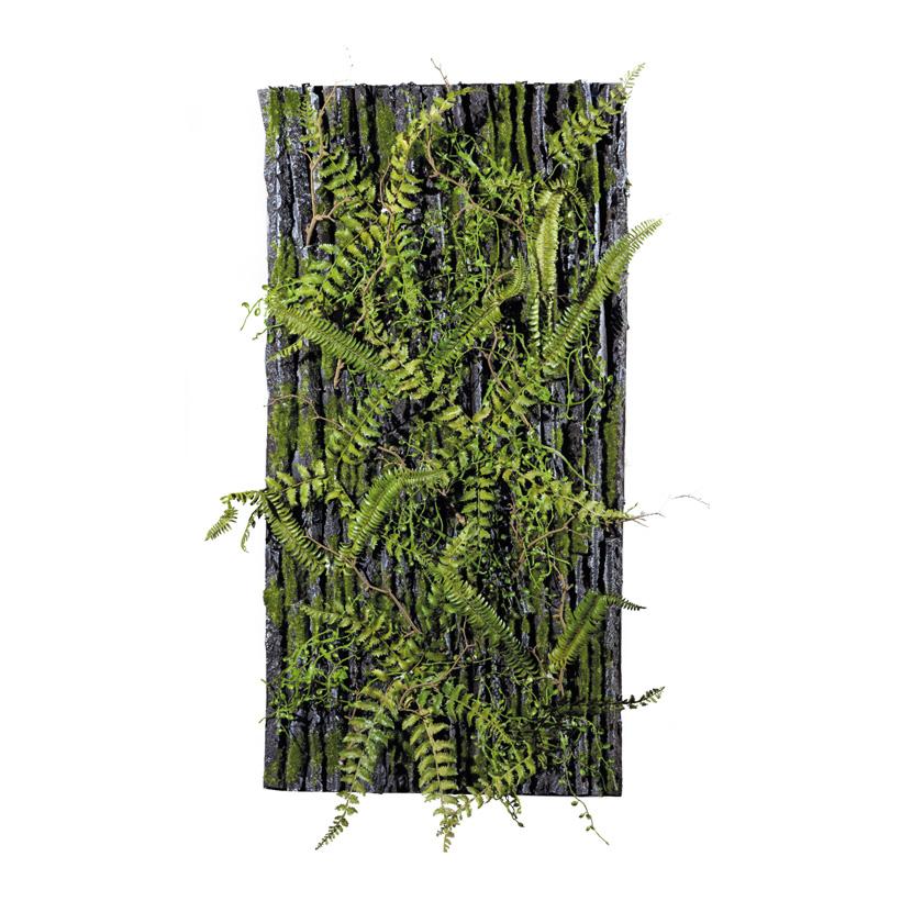 Schaumstoffplatte, 100x50cm Oberfläche in Baumrindenoptik, bemoost und dekoriert