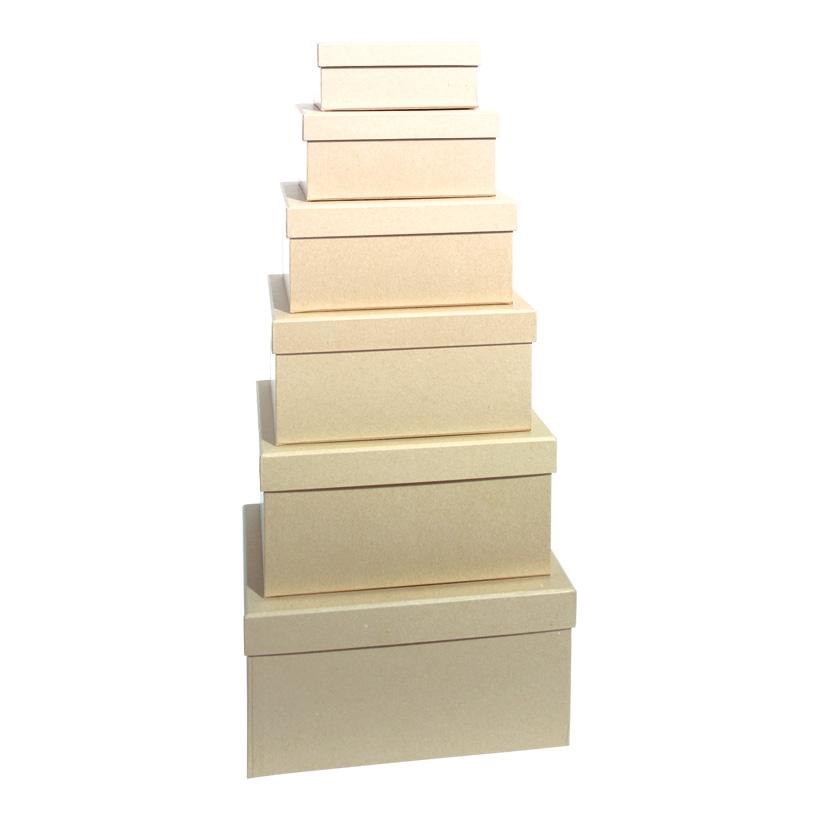 Geschenkkartons, rechteckig, größte Box: 26x18x13cm 6 Stk./Satz