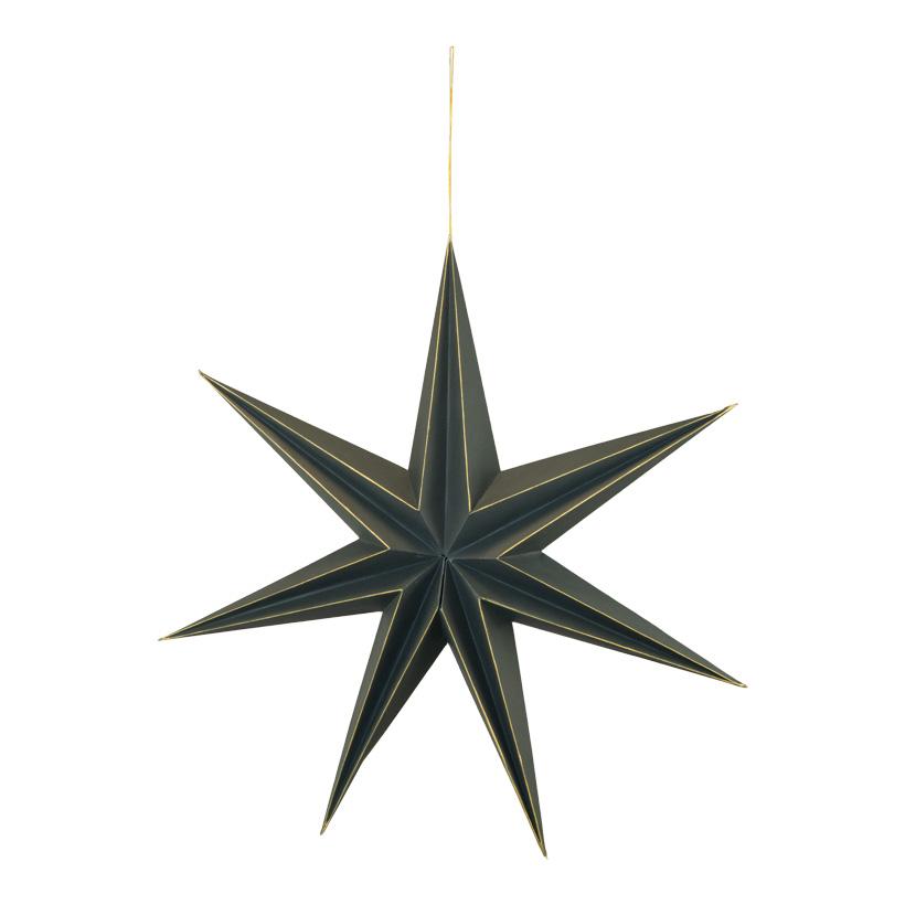 Faltstern, 60cm 7-zackig, mit Hänger, aus Papier, mit Magnetverschluss