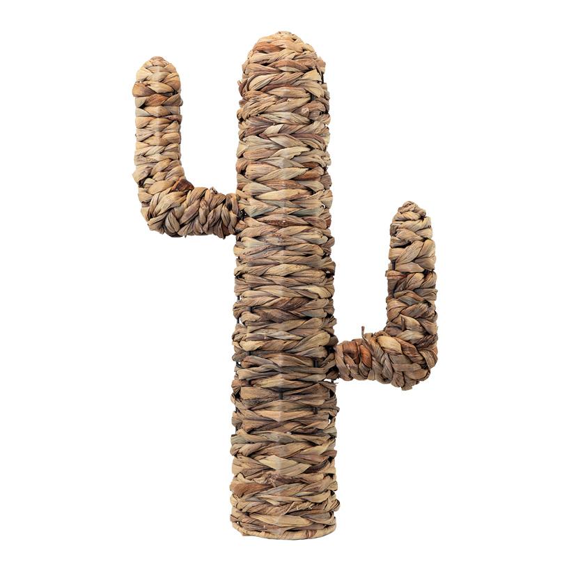 Kaktus, H: 65cm aus natürlichem Flechtmaterial