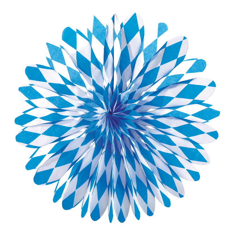 # Rosette Bayern 35 cm Ø, Papier, bayr. Raute, schwer entflammbar