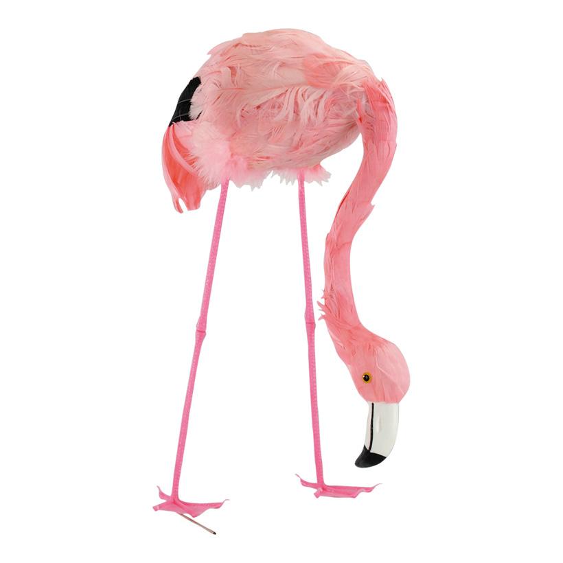 # Flamingo, 38cm, Kopf gesenkt, Kunststoff mit Federn