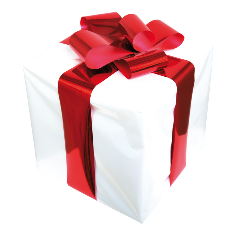 Geschenkpäckchen, 30x30cm, mit Folienschleife, Styropor