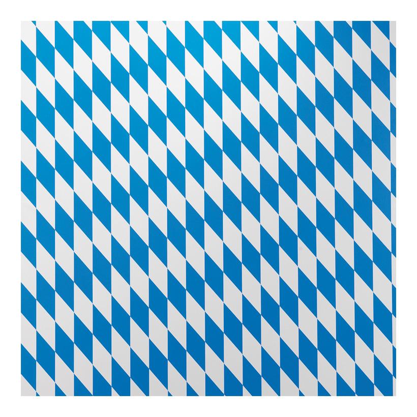 # Bayrische Raute Folie, 130cm breit Mindestabnahmemenge 30m, einseitig bedruckt, 89% Weich-PVC - 11% PP Vlies, Gewicht ca. 320 g/m≤