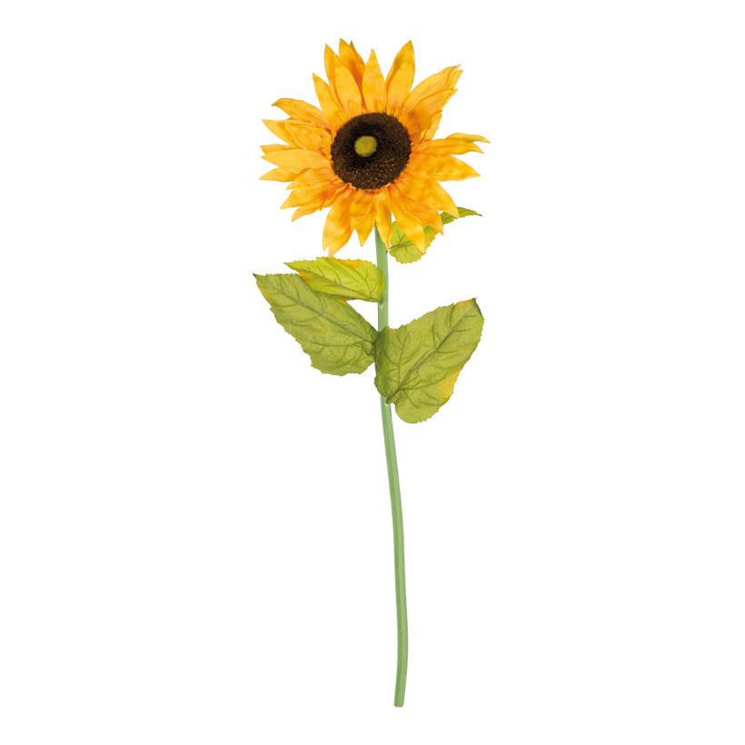 Sonnenblume am Stiel, Blüte Ø 35cm, 100cm, Kunstseide