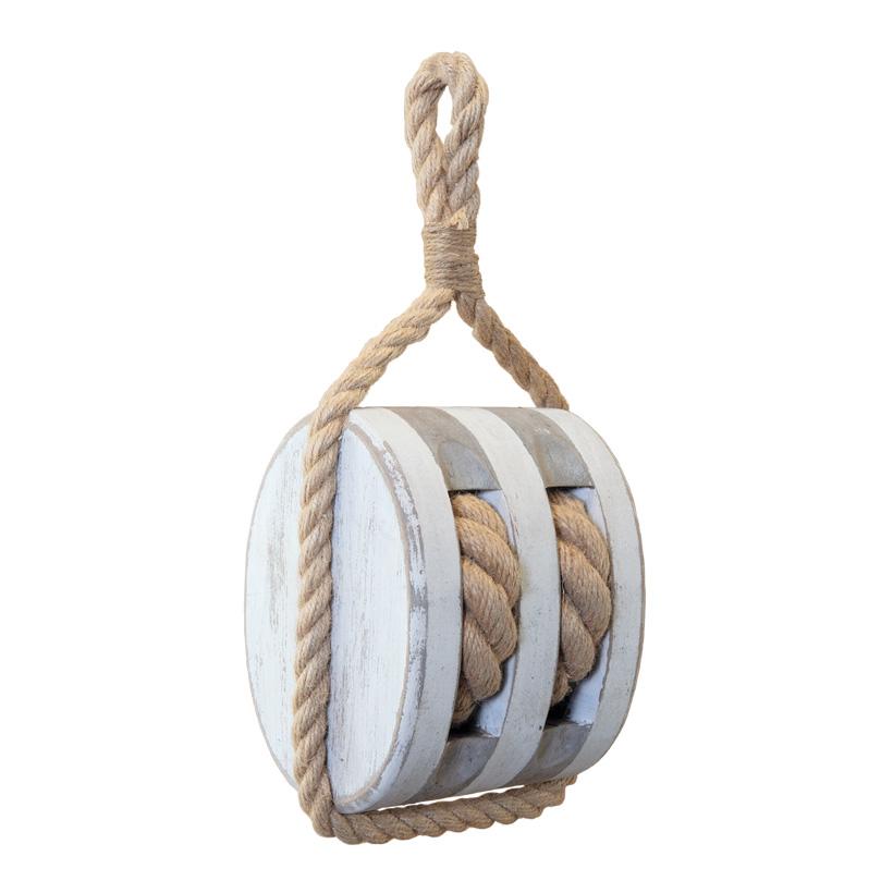 Deko-Seilzug, H: 30cm zum Hängen, aus Holz