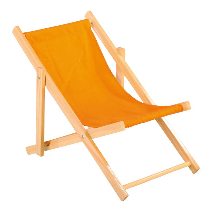 Liegestuhl, 26x18cm, Holz, Baumwolle