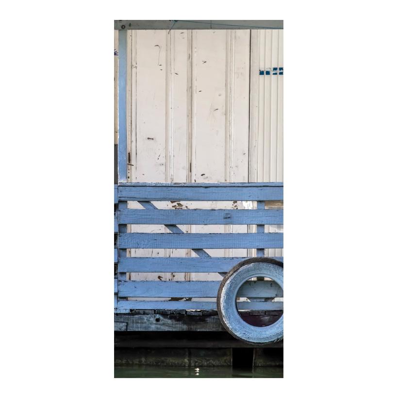 "# Motivdruck ""Hausboot"", 180x90cm Papier"