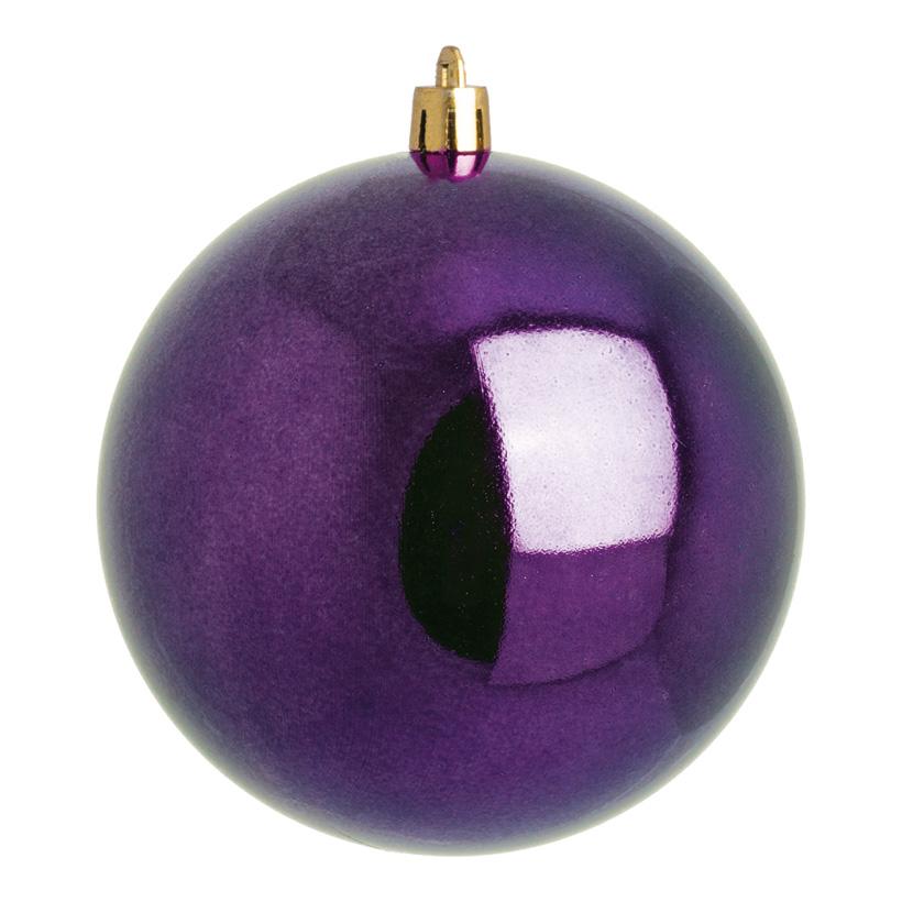 Weihnachtskugeln, violett glänzend, Ø 8cm 6 St./Blister