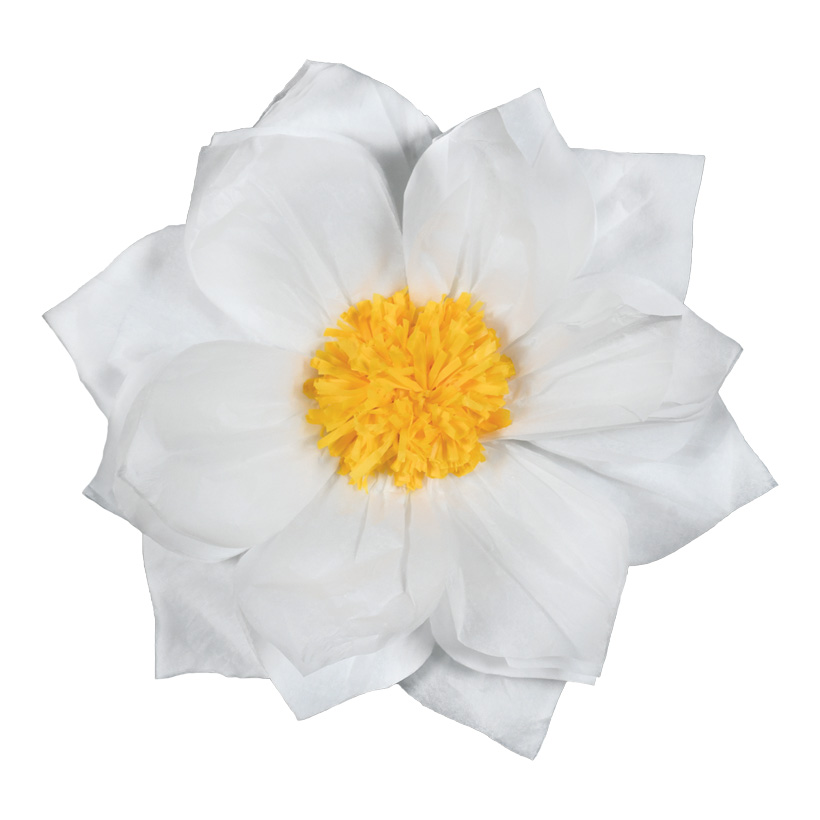 Papierblüte, Ø30cm mit Hänger