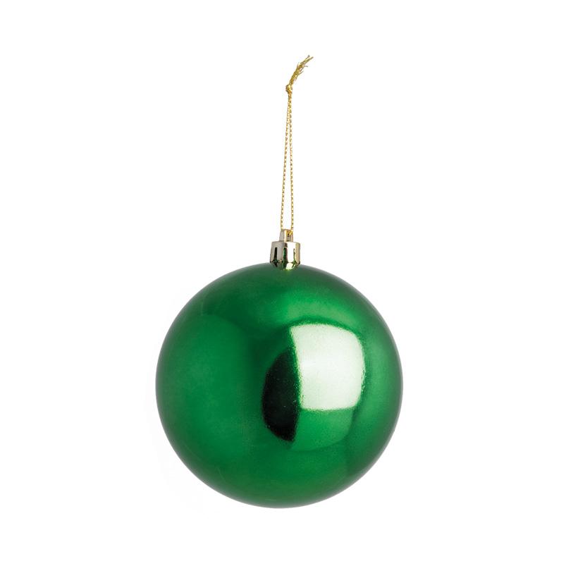 Weihnachtskugel, grün, Ø 10cm, nahtlos, glänzend