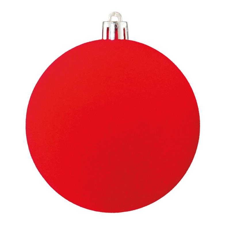 Weihnachtskugeln, beflockt, Ø 8cm 6 St./Blister