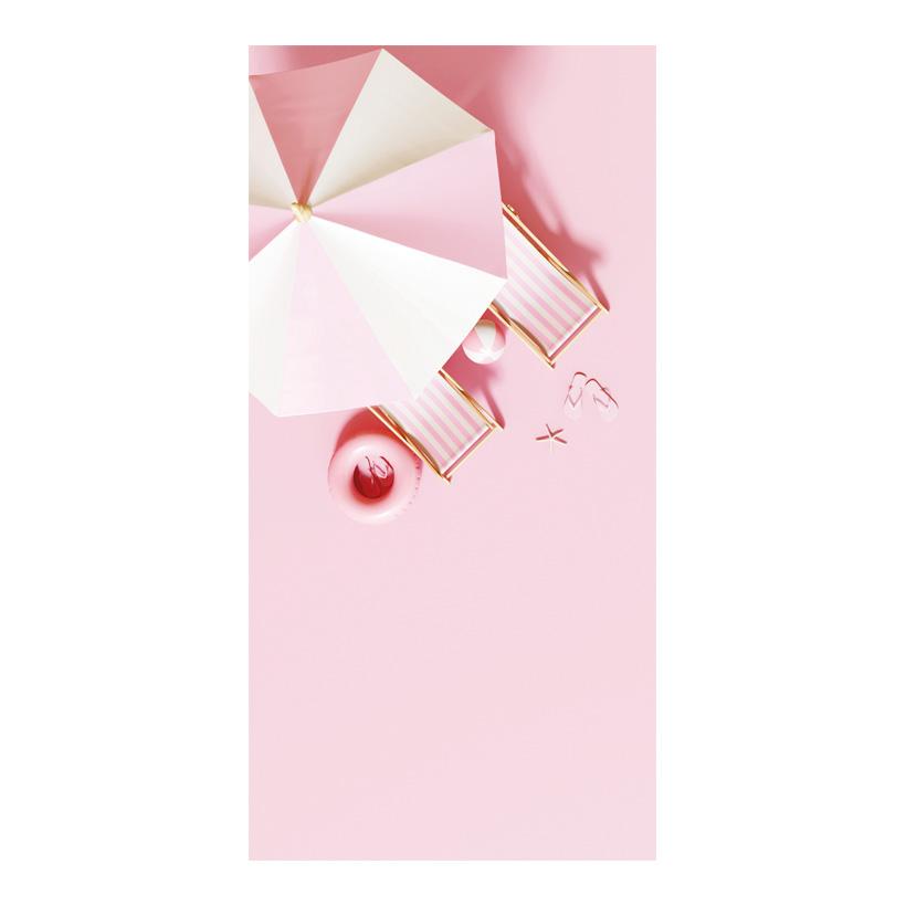 # Motivdruck, Rosa Strand, 180x90cm Stoff