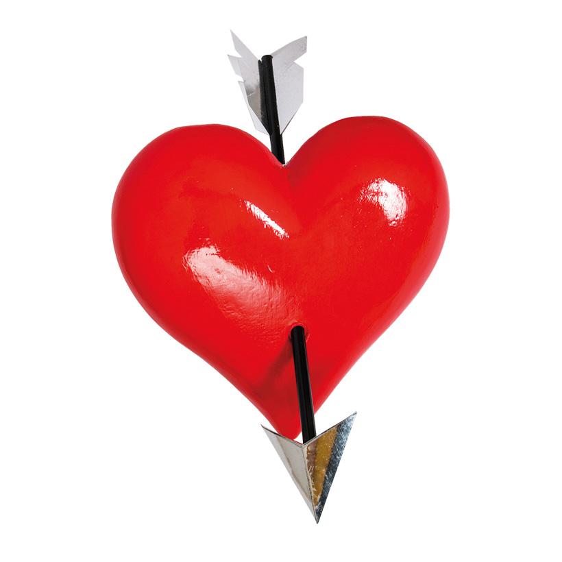 # Herz mit Pfeil 40x40x10cm 3D, aus Styropor