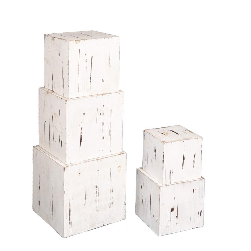 Holzwürfelboxen, 20cm, 18cm, 16cm, 14cm, 12cm 5Stck./Satz, nestend