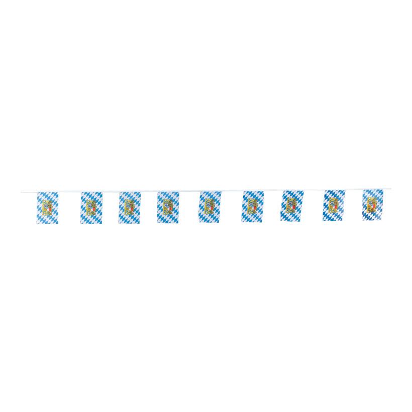 Fahnenkette, Fahnen: 15x23cm, 5m, 15-fach, Kunstseide