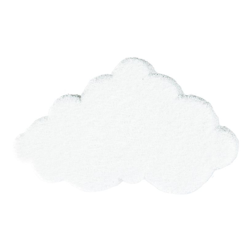 Wolke aus Styropor, 60x35cm beflockt