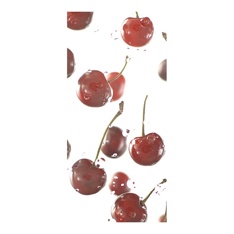 """# Motivdruck """"Kirschen"""", 180x90cm aus Stoff"""
