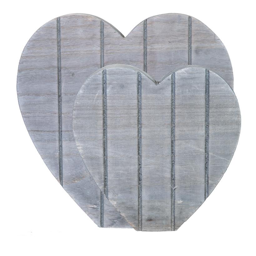 Herzen, 30x30cm 20x20cm selbststehend, 2er-Set aus Holz