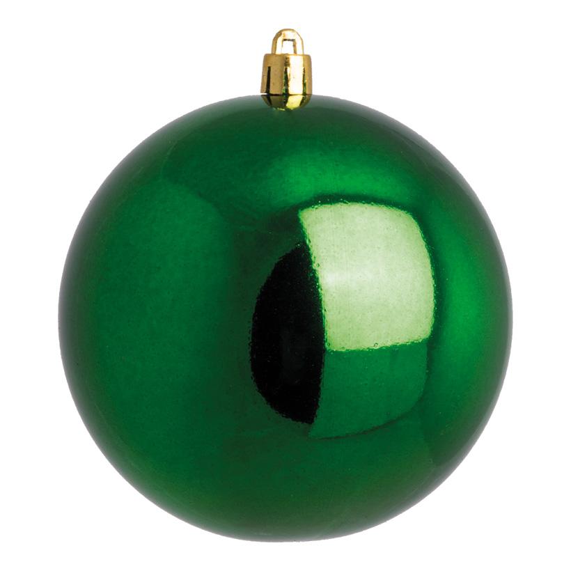 Weihnachtskugel, grün glänzend, Ø 4cm, 10 St./Blister