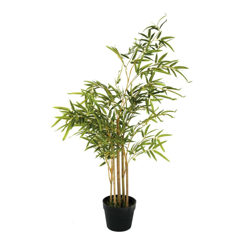 # Bambus-Baum, 100cm mit Kunststoff Topf
