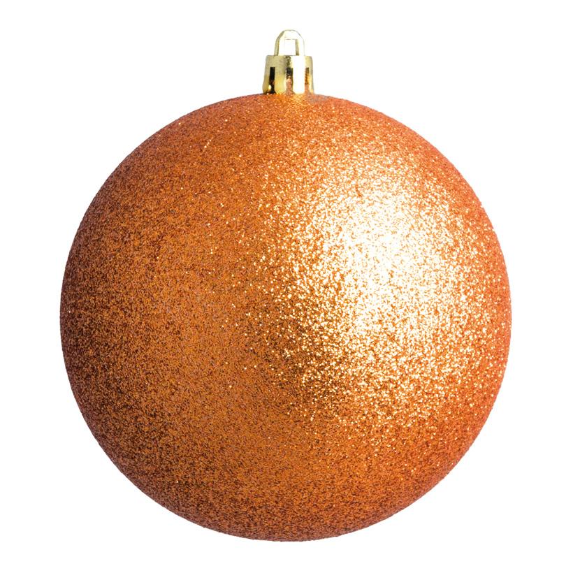 Weihnachtskugel, kupfer beglittert, Ø 8cm 6 St./Karton