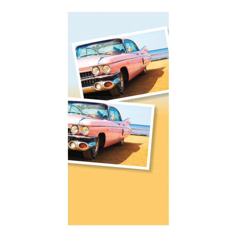 """# Motivdruck """"Cadillac, 180x90cm Stoff"""