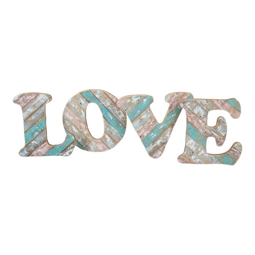 """# Schriftzug """"LOVE"""", 136x36cm, mit Aufhängung+Ständer, MDF-Holz"""